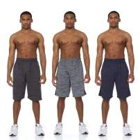 Essential Elements 3 Pack: Mens Quick Dry Active Performance Athletic Cationic Basketball Shorts with Pockets