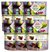 ORGANIC Turkish Dried Figs - Sunny Fruit - (6 Bags) - (5) 1.76oz Portion Packs per Bag | Purely Figs - NO Added Sugars, Sulfurs or Preservatives | NON-GMO, VEGAN, HALAL & KOSHER