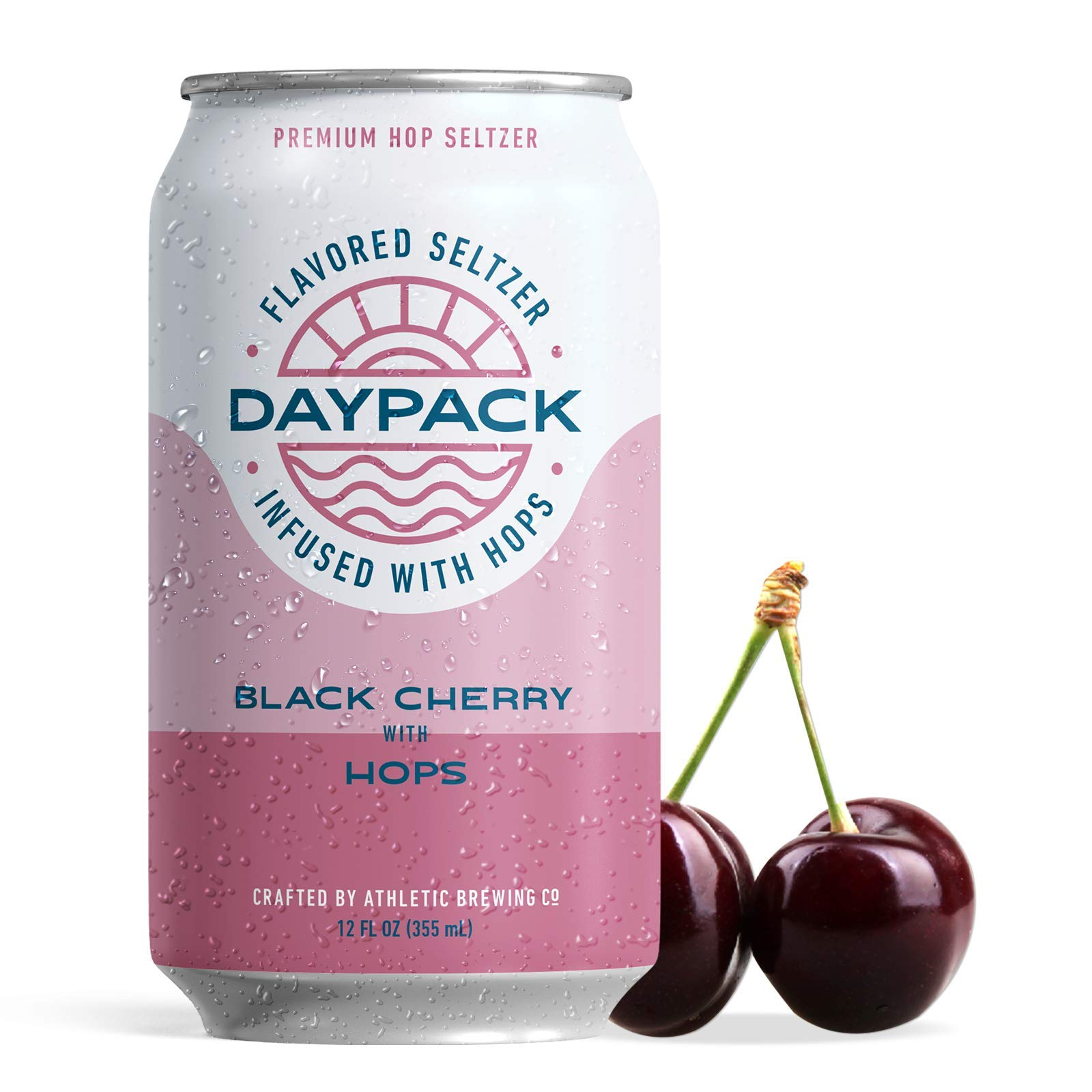 Athletic Brewing CompanyDayPackSparkling Water - 12-Pack of Black Cherry Flavored Seltzer - Zero-Calorie, Zero-Carbs - Natural IngredientsForA Great Tasting Drink - 12 Fl Oz Cans