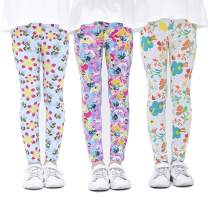 Zumou Girls Leggings Printing Flower Kids Stretch Pants 3 Pack Size 3-13Y