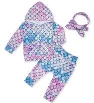 Fanient Newborn Baby Girls Boys Hoodie Tops and Pant Cute Sweatshirt Set with Headband 0-24M