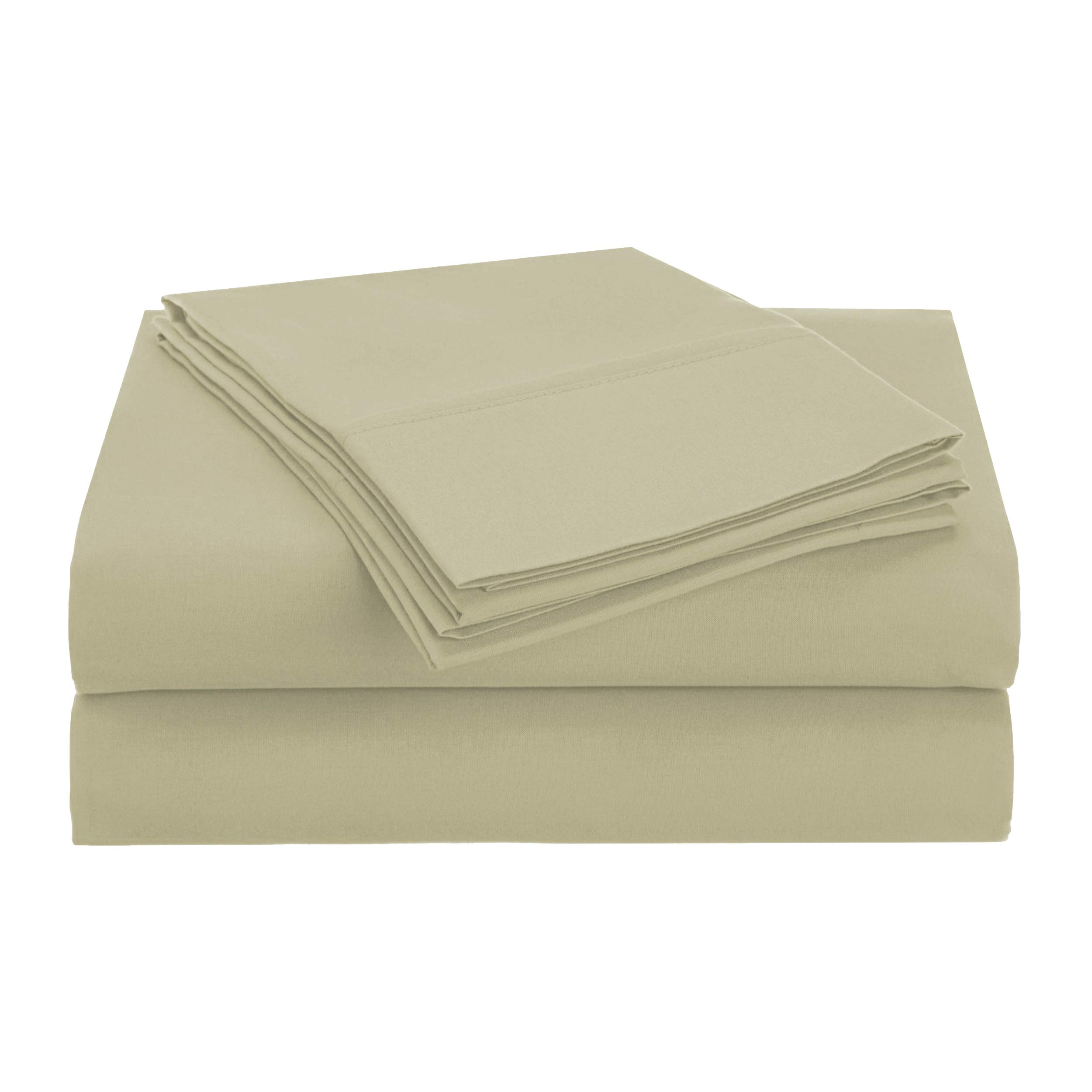 Superior 1500 Series Premium Quality 100% Brushed Soft Microfiber 3-Piece Luxury Deep Pocket Cooling Bed Sheet Set, Hypoallergenic, Wrinkle and Stain Resistant - Twin XL, Sage