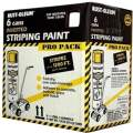 Rust-Oleum P2593849 18-Ounce Spray Paint Striping Paint Contractor, White, 6 Pack