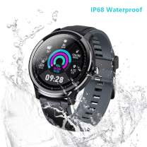 """Smart Watch Sport Smart Watch Fitness Tracker for Android and iOS Phone Activity Tracker with 1.3"""" Full Touch Screen, Camera Music Control IP68 Waterproof Smartwatch,Ultra-Long Battery Life, Grey"""