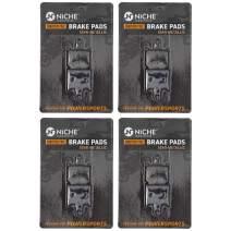 NICHE Brake Pad Set For Kawasaki Ninja ZX6R ZX14R Z1000 Concours 14 43082-0122 Front Semi-Metallic 4 Pack