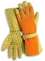 High 5 Long Cuff Gardening Gloves by Dig It with Fingertip Pillow-top Protection for all types of Gardening Chores and other DIY Activities