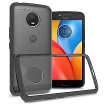 CoverON Hard Slim Fit ClearGuard Series for Motorola Moto E4 Plus/Moto E 4th Generation Plus (USA Version) Case, Clear with Black Trim