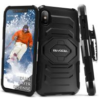 iPhone X Case, Evocel [New Generation Series] Belt Clip Holster, Kickstand, Dual Layer for iPhone X, Black (EVO-IPH8-XX01)