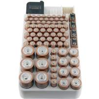 Bee Neat Battery Organizer Storage Case with Energy Tester - Holds 82 Large and Small Batteries