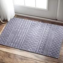 """Vangao Doormat Area Rug Diamond Polypropylene Modern Durable Fashionable Living Room Kitchen Bedroom Indoor Kitchen Bedroom Soft Carpet 2'x3'3"""" Charcoal Grey"""