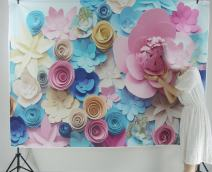 Yeele 7x5ft Pastel Flower Photography Backdrop Paper Flowers Background Birthday Wedding Decoration Kids Adult Portrait Photo Booth Video Studio Props