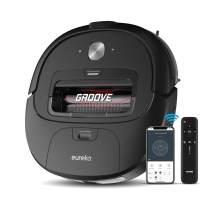 Eureka Groove Robot Vacuum Cleaner, 2000Pa Super-Powerful Suction, Self-Charging, App & Alexa Controls, Cleans Hardfloors to Medium-Pile Carpets, Black