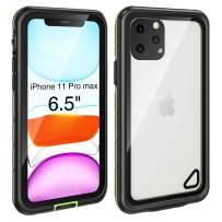iPhone 11 Pro Max Case Waterproof (6.5 inch) , Full Body Rugged with Built-in Screen Protector Waterproof/Shockproof/Snowproof/Dustproof , High Sensitive Touch Screen for iPhone 11 Pro Max(Green)