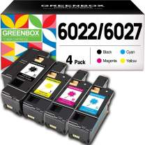 GREENBOX Compatible Xerox WorkCentre 6027 6025 Phaser 6022 6020 Toner Cartridge Replacement (1 Black 106R02759 1 Cyan 106R02756 1 Magenta 106R02757 1 Yellow 106R02758)