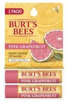 Burt's Bees Pink Grapefruit, Moisturizing Lip Balm, 2 Count