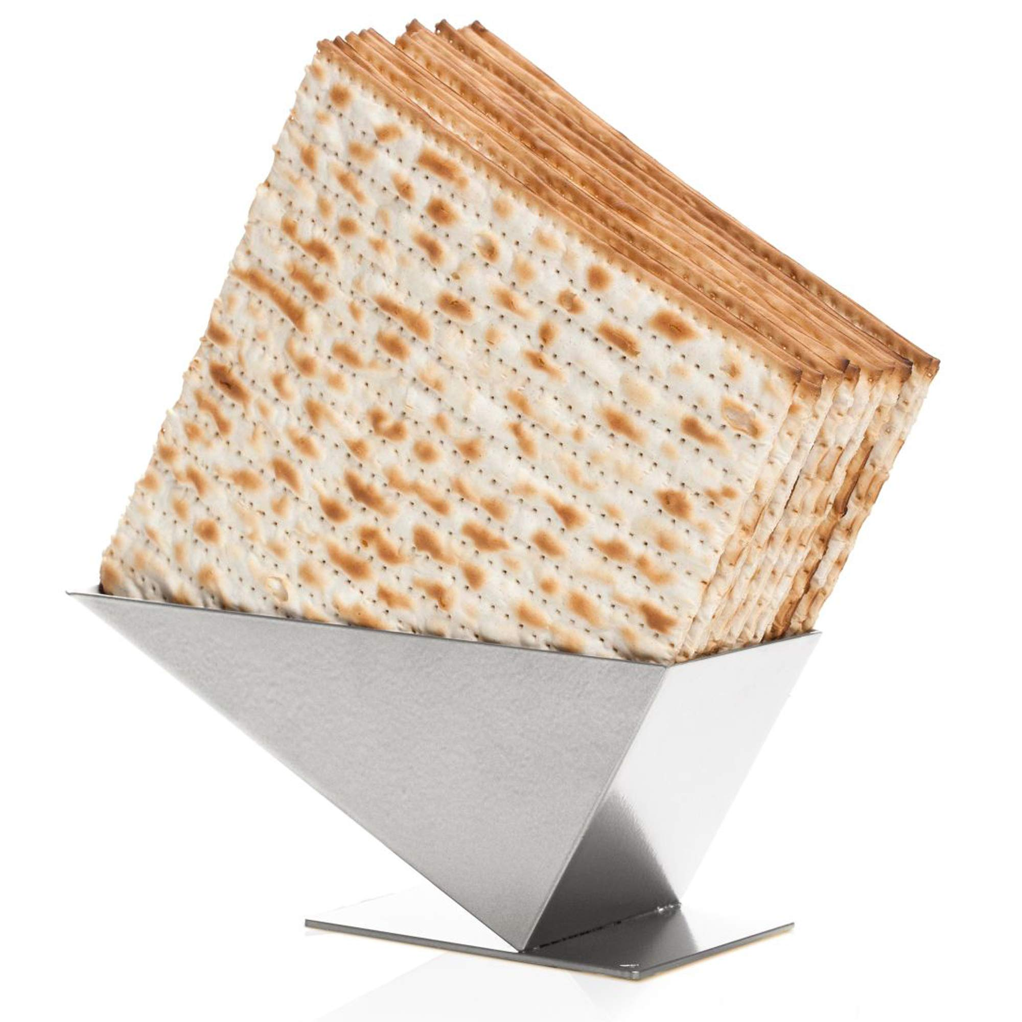 Matzah Crackers Holder - Passover Decorations Matzos Crackers Tray for Kitchen Storage - Dinner Table Decoration Matzah Box, Matzah Holder for Seder Table Design, Pyramid Matzo Holder