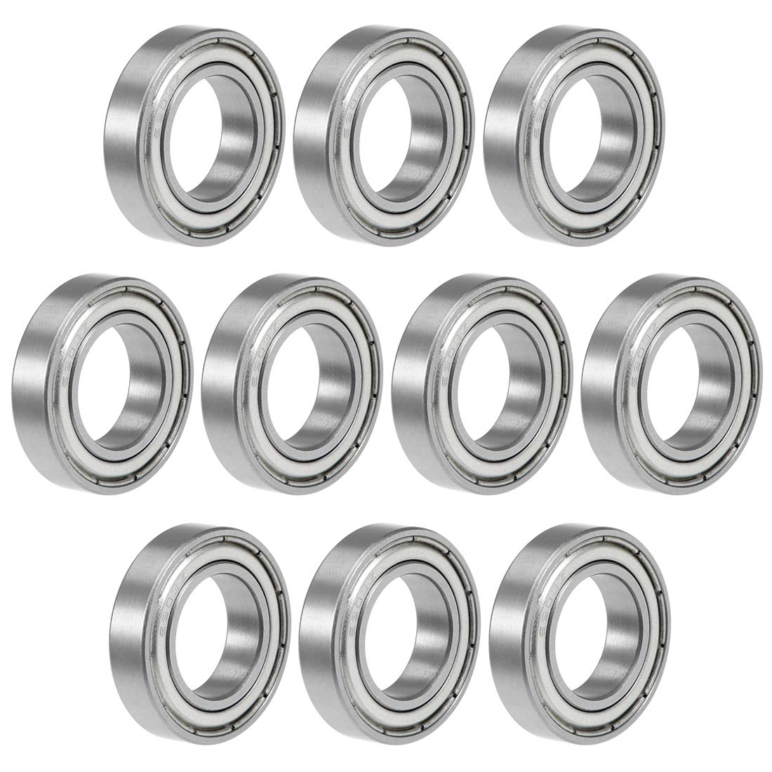 uxcell 6903ZZ Deep Groove Ball Bearing 17x30x7mm Double Shielded Chrome Steel Bearings 10-Pack