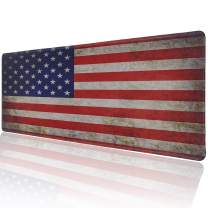Marphe Customized American Flag Large Gaming Mouse Pad Stitched Edges Extended Mat Desk Pad Mousepad Long Non-Slip Rubber Mice Pads