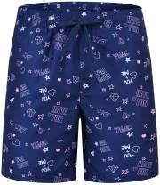 JINSHI Men's Swim Trunks with Mesh Lining Quick Dry Board Shorts Beach Bathing Shorts