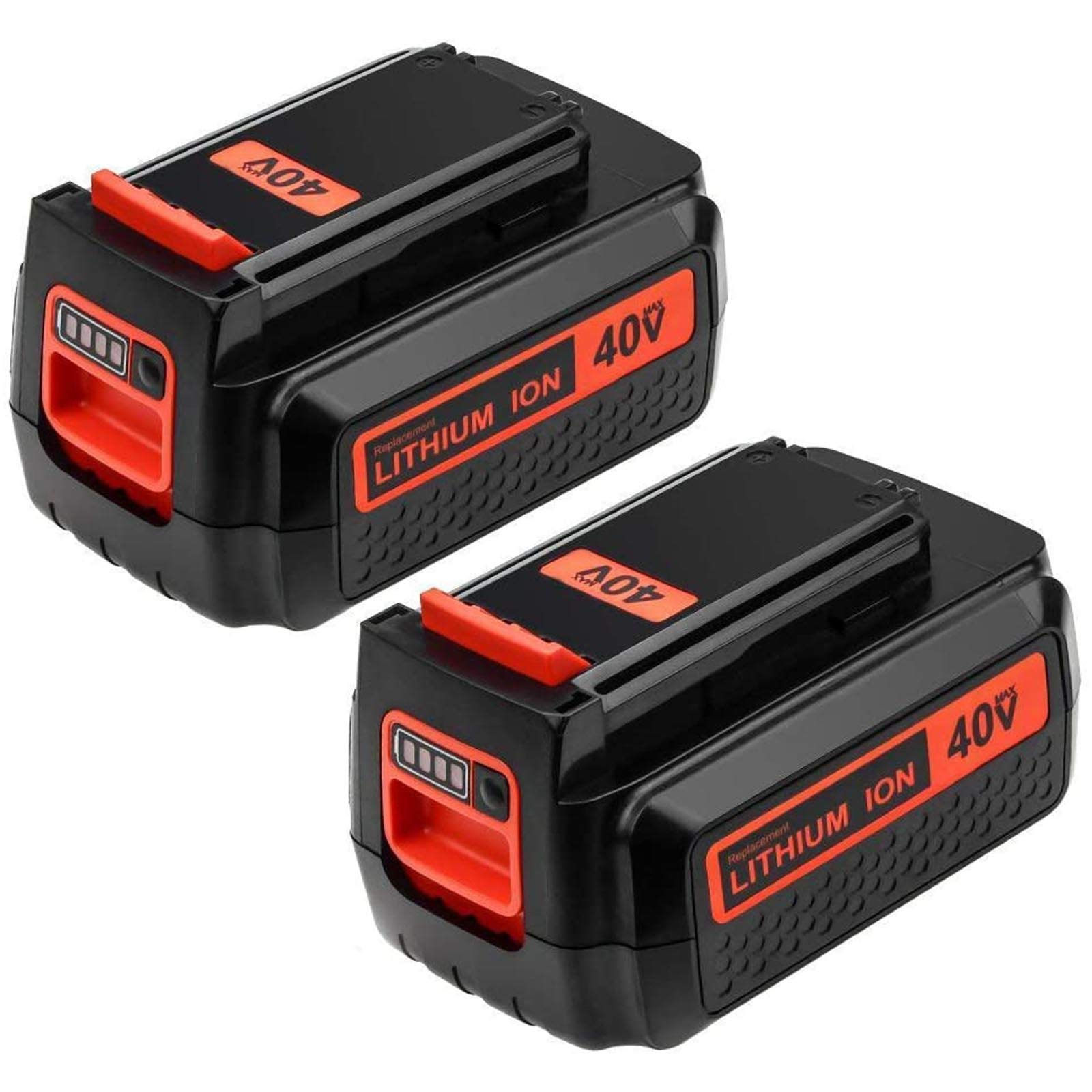 2Packs 40 Volt LBX2040 Replacement Battery Compatible with Black and Decker 40V Lithium Battery MAX LBXR36 LBXR2036 LST540 LCS1240 LBX1540 LST136W Cordless Tools