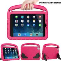 TIRIN Kids Case for iPad Mini 1 2 3 4 5, iPad Mini Kids Case - Light Weight Shock Proof Convertible Handle Stand Kids Friendly Case for iPad Mini 1st/ 2nd/ 3nd/ 4th/ 5th Gen Tablet, Rose