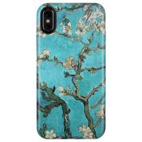 "GOLINK Case for iPhone X/iPhone Xs, Matte Finish Cute Series Slim-Fit Ultra-Thin Anti-Scratch Shock Proof Dust Proof Anti-Finger Print TPU Gel Case for iPhone X/Xs 5.8"" - Almond Tree"