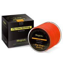 Magreel Braided Fly Line Backing High Strength Fly Fishing Line Fluorescent Orange Yellow 20lb 30lb 100yds 300yds