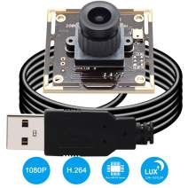 Camera USB 1080P USB Webcamera Sony IMX322 Sensor Webcam 0.01lux Low Illumination 2MP USB Camera Module 2.1mm Mini Video Camera Wide Angle Industrial Camera for Android Windows Linux PC Mac