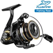 PLUSINNO Spinning Reel, 9+1 BB Fishing Reel, Ultra Smooth Powerful, CNC Aluminum Spool for Saltwater Freshwater Fishing