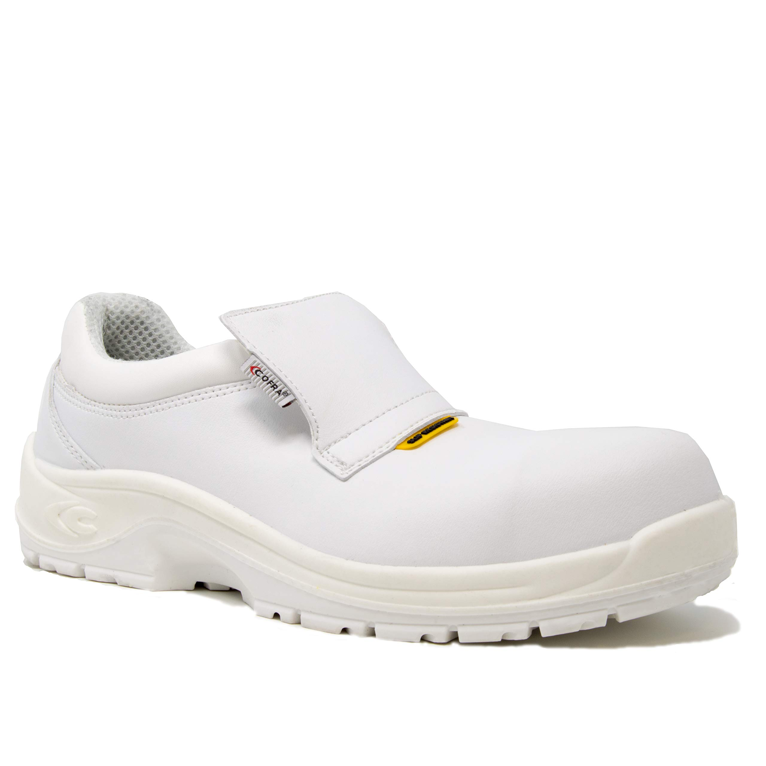 COFRA Chemical Resistant Work Shoes - STEAM Slip Resistant Footwear with Composite Safety Toe & Water Repellent Upper - Size 7