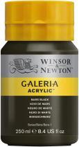 Winsor & Newton Galeria Acrylic Paint, 250ml Bottle, Mars Black