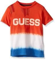 GUESS Boys' Little Short Sleeve Deep Dye Logo Graphic T-Shirt