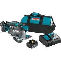 "Makita XSC03Z 18V LXT Lithium-Ion Cordless 5-3/8"" Metal Cutting Saw, Kit w/ 5.0Ah Batteries"