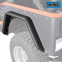 EAG Body Armor Tube Fenders with 3 inch Flares Black Textured Fit for 76-86 Jeep Wrangler CJ7