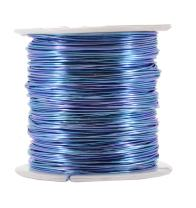 Mandala Crafts Anodized Aluminum Wire for Sculpting, Armature, Jewelry Making, Gem Metal Wrap, Garden, Colored and Soft, 1 Roll(20 Gauge, Ice Blue)