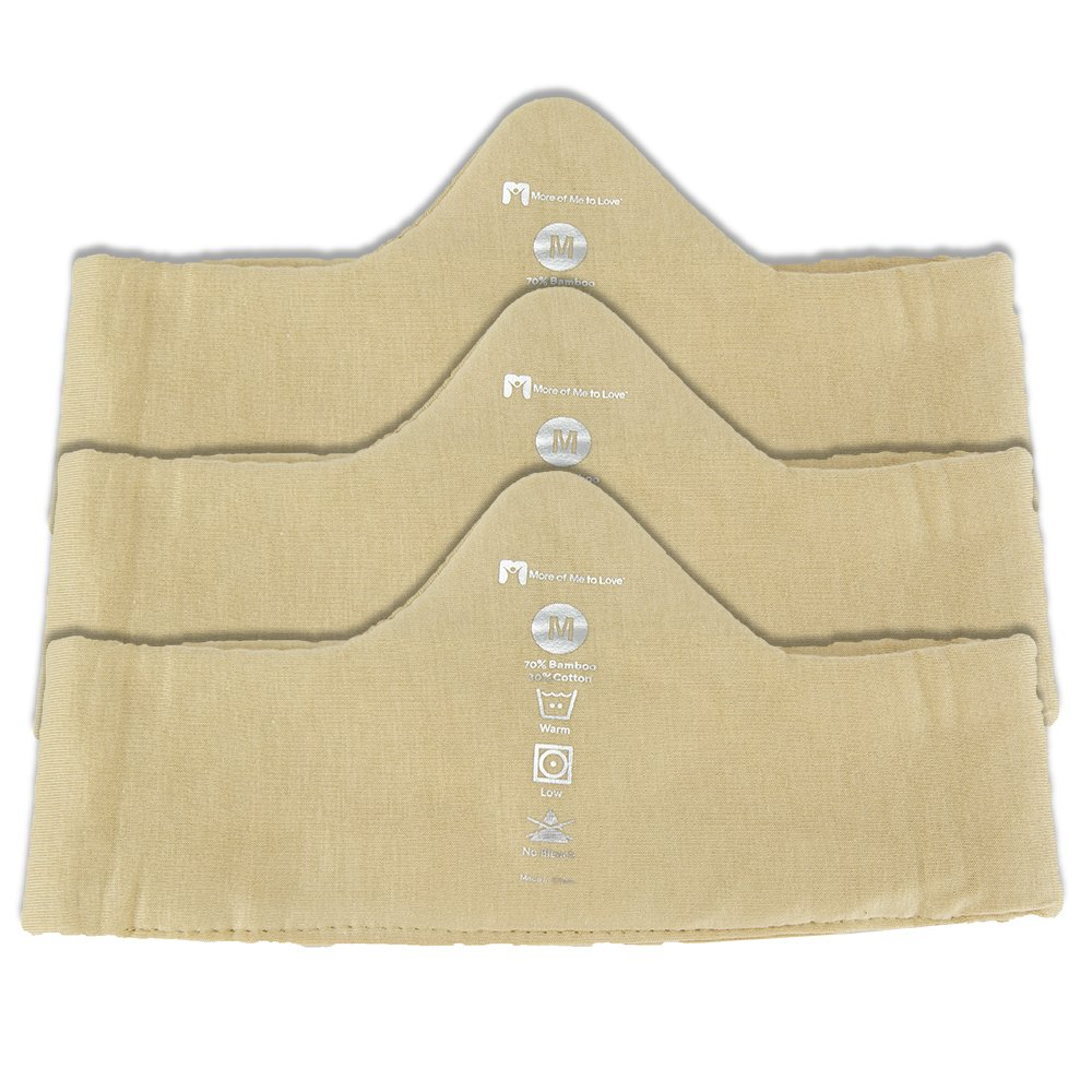 Keep Cool & Dry Bamboo Under-Bra Liners (Beige, M) - Natural, Thermoregulating, Sweat-Wick