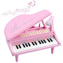 BAOLI Toy Piano for Kids - Birthday Gift for 3 4 5 6 Year Old Girl – Educational Piano Musical Instrument Toys - Keyboard for Child with Built-in Microphone & Music Modes 31 Keys
