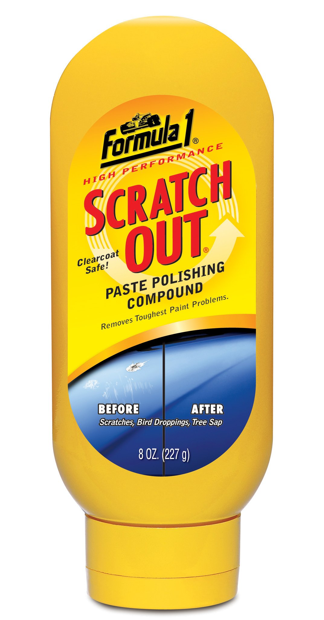 Formula 1 Scratch Out - Scratch Remover for All Auto Paint Finishes - 8 oz. Paste Wax