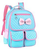 JiaYou Kid Girl Child Princess Daypack Primary Backpack Junior Bookbag Schoolbag (1#Blue,18L)