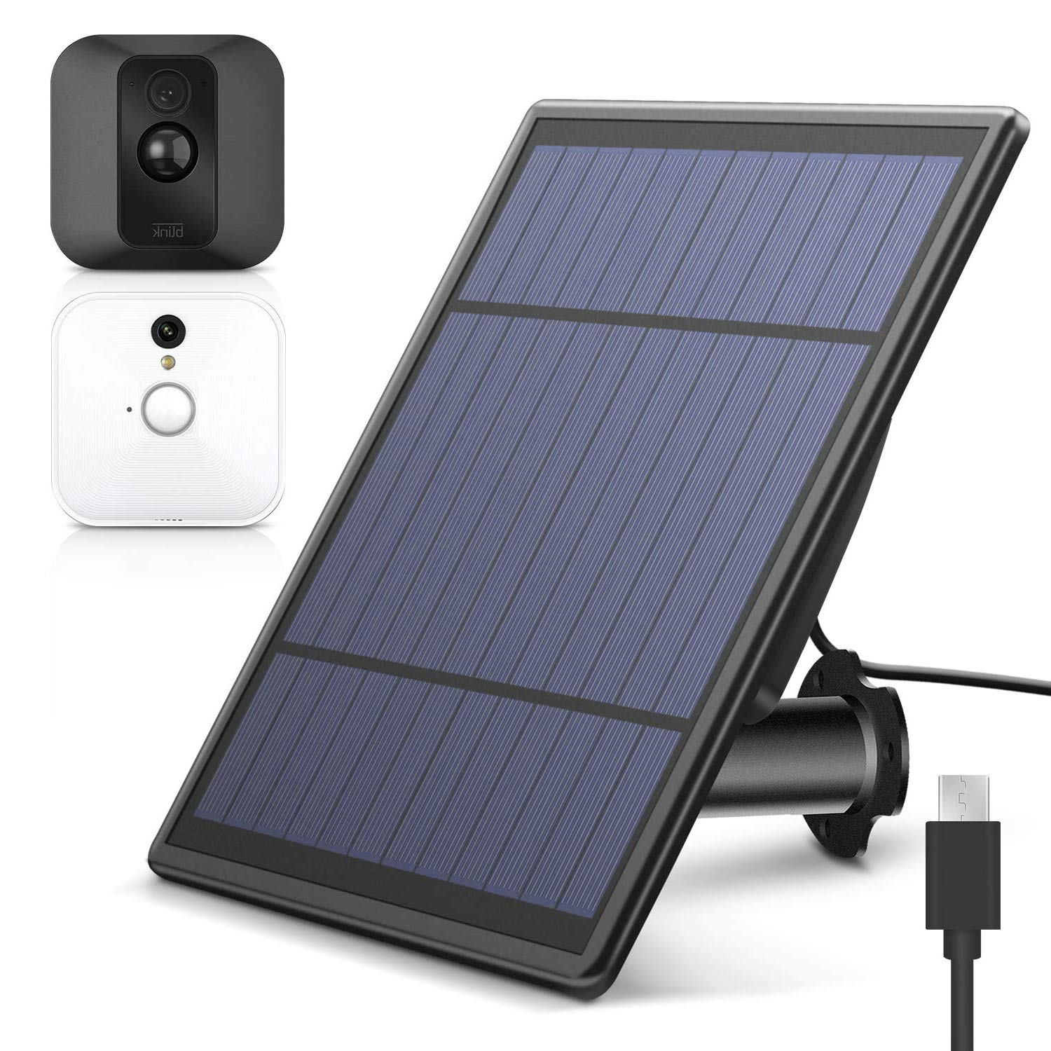 MASCARRY Solar Panel for Blink XT XT 2 Security Camera, Wall Mount Outdoor Weather Proof Solar Power Charging Panel for Blink XT XT 2 Home Security Camera System
