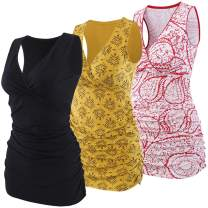 Topwhere Women's Cotton V Neck Tank Top for Maternity and Nursing