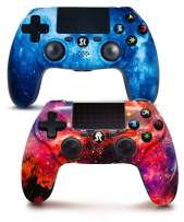 PS4 Controller Wireless 2 Pack, Star Could Series Dual Shock High Performance Gamepad for Playstation 4/Pro/Slim with Touch Pad, High-Precison joystick(Galaxy & Neblua)