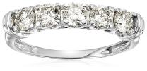 1 cttw Certified SI2-I1 5-Stone Diamond Ring in 14K White Gold