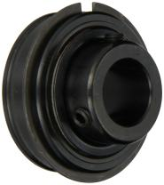 """Sealmaster ERX-32 LO Wide Inner Ring Ball Bearing, Low Drag, Setscrew Locking Collar, Lo Drag Felt Seals, Special Channeling Grease Lubrication, 2"""" Bore, 100mm OD, 2-3/16"""" Width"""