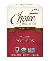 Choice Organic Teas - Rooibos Tea (6 Pack) - Organic Herbal Tea - 96 Tea Bags