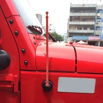 FM//AM Reception Enhanced DROGO 5 MissileX Replacement Antenna for Jeep JK Wrangler 2007-2019 Tough Material Creative Design Red