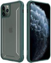 Procase iPhone 11 Pro Case 2019, Clear Hybrid TPU Bumper Cover with Reinforced Corner Protection, Protective Case for iPhone 11 Pro 5.8 inch 2019 - Dark Green