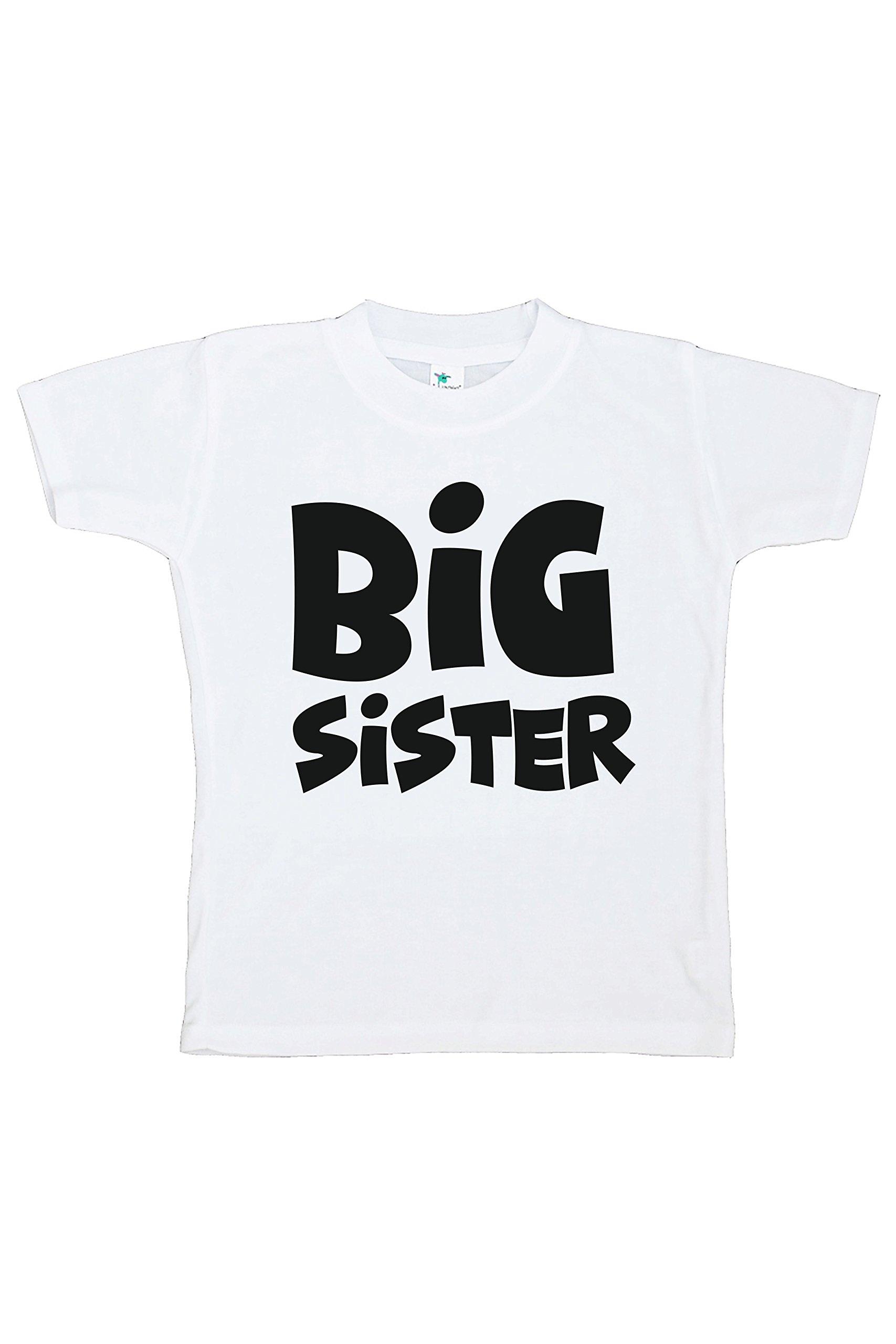 7 ate 9 Apparel Girl's Big Sister T-Shirt