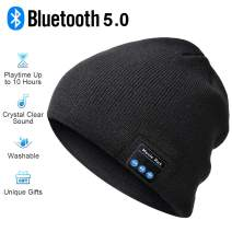 Bluetooth Beanie,Mens Gifts Bluetooth Hat,Gift for Men and Women,V5.0 Bluetooth Beanie Hats,Hand Free Wireless Headphone Beanie with Bluetooth Speakers Soft Knit Mans Beanie Hats Winter