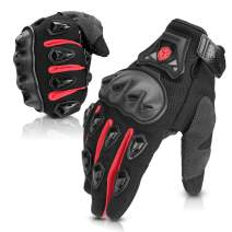 SCOYCO Protective Motorcycle Gloves,Antislip PP Shell Knockle Reinforced Summer Breathable Gloves for Moto/ATV/MTB (Red,XL)